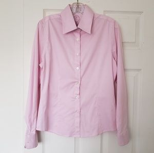 English Laundry Pink Button Down Blouse